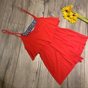 Candy red romper